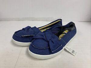 Time And Tru Memory Foam Women's Slip On Blue Denim Casual Shoes Size 10