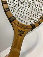 Antique Tennis Racket Early Davis Cup Wright & Ditson Wood