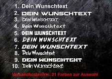 2 x Sticker WUNSCHTEXT Aufkleber Auto Werbung, 20cm Breite Name Spruch Domain