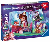 08061 Ravensburger Enchantimals Jigsaw Puzzle 3 x 49pcs Children Age 5 Years+