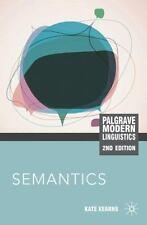 Semantics by Kate Kearns 2nd Edition Paperback Book