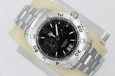 Tag Heuer Black Aquaracer Watch Mens WAF111Z.BA0801 SS 300M Alarm Mint Crystal
