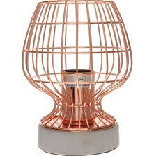 Lampada DA TAVOLO IN RAME IN CEMENTO Rose Gold cemento Gabbia Lampada Industriale Moderno