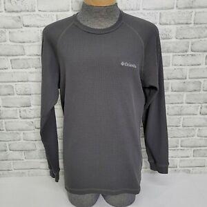 Columbia Mens M Grey Omni Wick Thermal Waffle Knit Long Sleeve Shirt