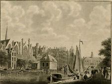 Antique Print-TOPOGRAPHY-AMSTERDAM-ROKIN-EXCHANGE-Kruyff-Hoogkamer-1825