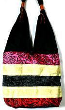 SAC A MAIN ETHNIQUE Noir rose rouge ETHNIK BAG WOMEN black pink red ELEPHANT