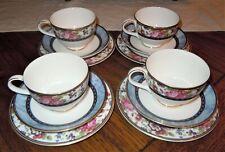 Royal Doulton Centennial Rose 12pc Tea Cup & Saucer w/ Bread Plate England