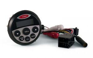 Marine Radio MP3 Wasserdicht Rund USB AUX Bluetooth Einbau Boot Autoradio Yacht