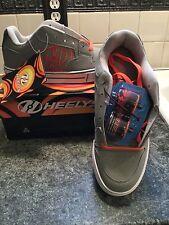 Heelys Motion Kids Sz 8 New in Box Gray w Orange Nubuck Style 770151H