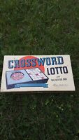 Vintage Parker Brothers Crossword Lotto and The Letter Box Game Complete