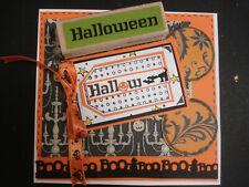 Halloween rubber stamp - Halloween horizontal caption greeting block letters