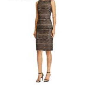 Lauren Ralph Lauren Petites Lace Sheath Dress MSRP $195 Size 10P # 12B 866 NEW