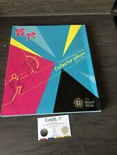 LONDON 2012 OLYMPIC GAMES 50p OFFICIAL SPORTS COLLECTOR USED CONDITION ALBUM TUE