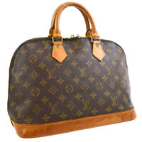 LOUIS VUITTON ALMA HAND BAG PURSE MONOGRAM CANVAS M51130 VI0943 VINTAGE 31752