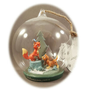 Exclusive Disneyland Paris - Fox & Hound - Christmas Ornament + Map of Parks
