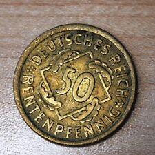 1924 A Germany - Weimar Republic 50 Rentenpfennig Km# 34 Die Clash Error