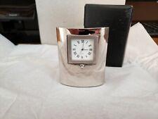 Beautiful Small Silver Quartz Clocks - Classic, Engraveable, Wedding Favors, etc