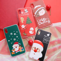 Cute Christmas Santa Snowman Protective Phone Case Cover For Huawei P20 P30