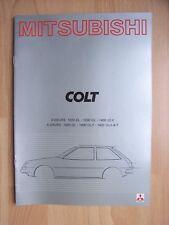 Mitsubishi Colt  3-/5-deurs (1200 + 1400) Prospekt / Brochure, Belgien, 12.1980