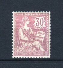 "FRANCE STAMP TIMBRE 128 "" MOUCHON RETOUCHE 30c VIOLET 1902 "" NEUF xx LUXE  R607"