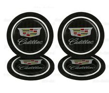 4PCS Silicone Carbon Fiber Car Cup Holder Pad Mat Inserts For Cadillac Anti-Slip