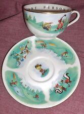 WARNER BROS Porcelain GOLF CUP & SAUCER Taz Tweety Bugs Daffy Elmer & Sylvester+