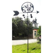 Linx 5-1/2 Feet Lawn and Garden Butterfly and Flower Metal Weather Vane