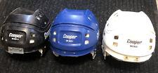 3 Black Blue White Cooper Sk600  Bubble Hockey Goalie Ice Helmet Parts Lot