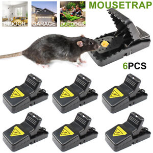 6Pcs Mouse Trap Automatic Mice Killer Snap Bait Trap Rodent  Catcher Reusable