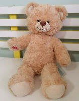 BUILD A BEAR GIRL BOY TEDDY BEAR  BROWN FLUFFY 40CM DARK BROWN NOSE WIGGLY MOUTH
