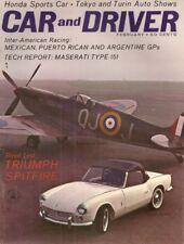 CAR & DRIVER 1963 FEB - SPITFIRE, SCARAB, TIPO 151