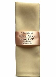 5 Personalised Ribbon Ring / Place Setting Napkins for Wedding Guests 45mm width