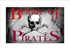 Stile vintage diffidare di pirati segno, pirata segno BAR CUCINA Saloon BAR SIGN