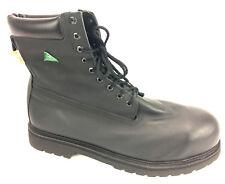 STC Men's Thinsulate Black Leather Steel Toe Work Boots US Size 16 Like Nuuuu