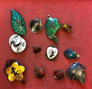 Lot of 12 Mixed Old China Chinese Metal Pins