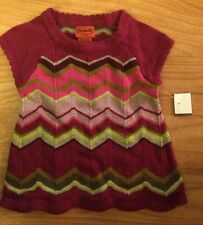 Missoni For Target Infant XS (3-6 Months) Girls Purple Pink Cute Dress NWT