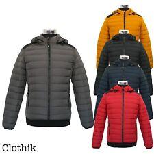 PIUMINO UOMO 200 grammi giubbotto corto avvitato giacca giaccone slim fit