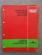 DEUTZ FAHR KH300 KH400 KH500 KH600 KH700 CENTIPEDE HAYMAKER WORKSHOP MANUAL