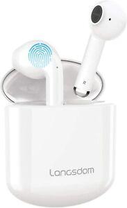 Langsdom Headset 5.0 TWS Wireless Earphones Earbuds Headphones Ear 30H Bluetooth
