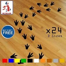 Dinosaur Wall Stickers Footprints Decals Vinyl Art x24 Kids Bedroom Removable