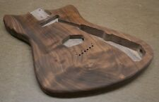 MA Unfinished Guitar Body Curly Black Walnut Fits Strat Neck (5 lbs)