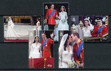 ST HELENA 2011 neuf sans charnière mariage ROYAL Prince William & Kate 5 V Set Royalty timbres