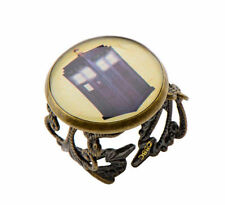 Doctor Who Tardis Filigree Style Adjustable Ring