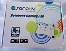 Notebook Cooling Pad Sanoxy LED light Clear USB powered SNX-3FN-LTCOL15