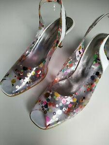 Brenda Zaro 40 Damen Pumps Schuhe Absatz Durchsichtig Guter Zustand