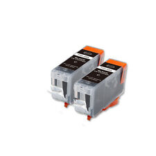 2 BLACK Printer Ink with chip fits Canon PGI-5 iP4200 iP4300 iP4500 MP530