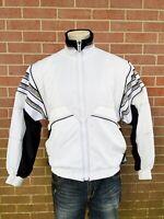 Vintage Head Tennis Ski Abstract White Zip up Jacket Heavy Windbreaker Mens Sz S