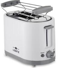 LENTZ 2-Schlitz-Toaster 2-Scheiben Toastautomat Brötchenaufsatz Brötchen-Röster