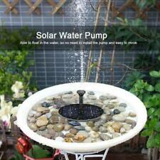 Bird Bath Fountain Solar Powered Water Pump Floating Black Outdoor Pond Garden