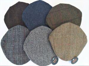 Unisex Scottish 100% Harris Tweed Wool Flat Cap made in SCOTLAND in 6 colours